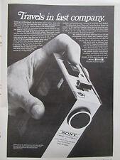 5/1972 PUB SONY MODEL 140 DELUXE AC/DC PORTABLE CASSETTE CORDER ORIGINAL AD