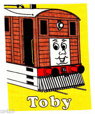 """7"""" Thomas the train tank toby hat fabric applique iron on character"""