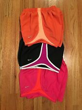 LOT OF 3 WOMENS NIKE DRI-FIT FIT DRY RUNNING SHORTS SIZE XS