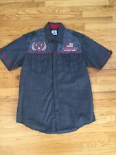 American Fighter Gray Red Slim Fit XL SS Mint!