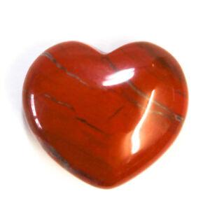 Natural Red Jasper Heart Crystal 25mm Grounding Protection Balance Love Gemstone