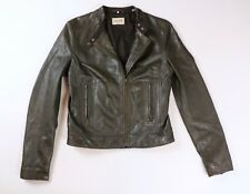 Levi's Made & Crafted Leather Motorcycle Biker Jacket Size 2 Italy $850