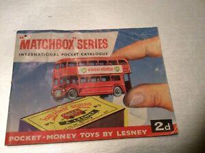 matchbox series pocket catalogue