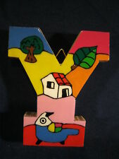 La Palma Folk Art from El Salvador Letter Y Handcrafted from Recycled Wood
