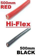 0.5M RED + 0.5M BLACK 16MM BATTERY STARTER CABLE 110 AMP HI FLEX 500MM X 2