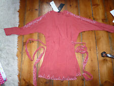 BNWT KATE MOSS RED WRAPOVER DRESS,8,HAND BEADED CRYSTALS,TOPSHOP