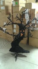 Grandinroad Halloween Menacing Face Tree Creepy Scary Pre Lit Orange Lights 4.5'
