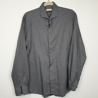 JAEGER London Mens Shirt Size M Medium Long Sleeve Grey Striped