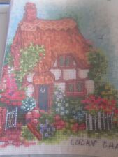 'Welcome To Lilliput Lane' Cottage Cross Stitch Chart (only)