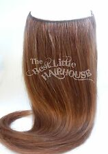 """Fits like a halo Hair Extension- Human Remy Flip On crown wire 20"""" long"""
