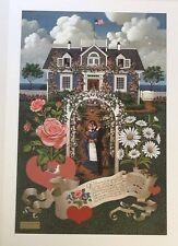 Charles Wysocki Home is my Sailor LE COA included sold out at publisher mint