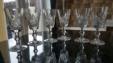 6 STUART HAND CUT CRYSTAL SHERRY   GLASSES. 1094 #15