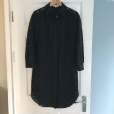 Reiss Carda black lace shirt dress, size UK 4 (more like 6-8)