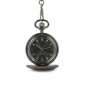 Pocket Watch Satin Grey with Satin Finish and Black Dial