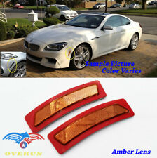 Euro Style Amber Bumper Side Marker Reflectors For 14-19 BMW 4 Serie F32 F33 F36