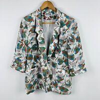 Womens Vintage Blouse Jacket Size AU 10-12 Floral Multicoloured 80s/90s Retro