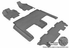 3D Anti-Skid 1 Set Bench Fits Grand Caravan 2008-2016 GTCA74043 Gray Carpet Auto