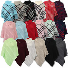 Acrylic Checked Collared Jumpers & Cardigans for Women