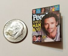 Miniature dollhouse book 1/12  Book Tv Movie Action People Magazine Hugh Jackman