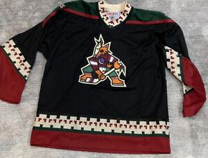 CCM PHOENIX COYOTES NHL Blank Vintage Hockey Jersey Size XL Sweater