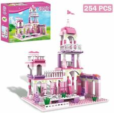 Girls Building Blocks Toys 254 Pieces Princess Castle Toys for Girls Pink Palace
