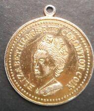 Australia 1953 QEII  Coronation Plastic Medallion  24mm