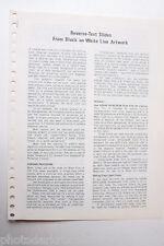 Kodak 1969 S-26 Reverse Text Slides for BW Line Art Info Guide- English USED B20