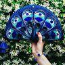 NWT Kate Spade Peacock Clutch Fun Straw Wicker Animal Bag Purse Blue Plume NEW