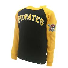 Pittsburgh Pirates Official MLB Majestic Kids Youth Size Hooded Sweatshirt New
