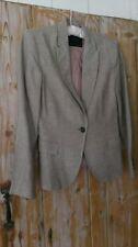 Zara Patternless Hip Length Linen Coats & Jackets for Women