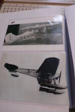 "Lot of 2 b & w 4"" x 6 Seaplane #5 & Biplane Airplane G-EAXM Photographs Set #135"