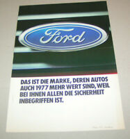 Prospekt / Broschüre Ford - Modell Katalog Schweiz - Ausgabe 1977