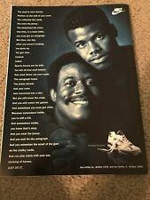Vintage 1990s NIKE KEN GRIFFEY JR. & SR. AIR TRAINER ACCEL LOW Poster Print Ad