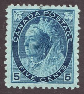 Sc#79 - Canada - 5 Cent Numeral QV - 1899 -  MH *see notes - cv$450