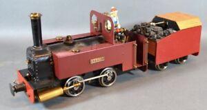 Live Steam Loco Gauge 1 G Scale SM45 0-4-0 Locomotive With Rc Tender Kermit JANE