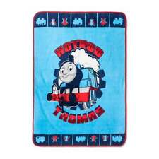 "NEW HOTROD THOMAS & FRIENDS THE TRAIN ENGINE BLUE PLUSH BLANKET THROW 46"" X 60"""