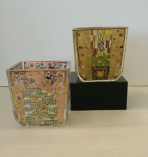 Goebel - Klimt - pair of small tealight holders