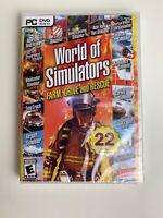 World of Simulators : FARM, DRIVE & RESCUE - 22 Games (PC DVD ROM) New