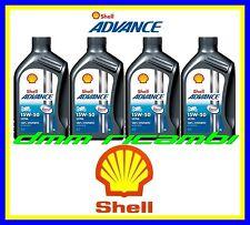 4 Litri Olio SHELL Ultra 4 15W/50 DUCATI 899 PANIGALE 14 per kit tagliando 2014