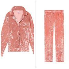 38dd4c7aa3 Victoria s Secret Crushed Velvet 2 pc Pajama Set PJs Pants Top Large  100  NWT