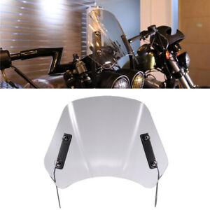 "5""-7"" Universal Motorcycle Windshield Wind Deflector Windscreen Clear Gray"