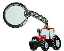 Red Tractor Case International Keyring- Farming Gift Novelty Enamel Keychain