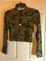 Small Camo Stretch Pullover Tube Mini Dress NWT by Revamped
