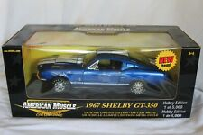 American Muscle 1967 Shelby GT350 in Blue 1:18 Scale