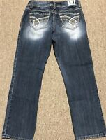 HYDRAULIC CAPRI/CROPPED JEANS SIZE 10 MEDIUM WASH MID RISE PREOWNED