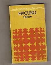 epicuro - opere - laterza editore
