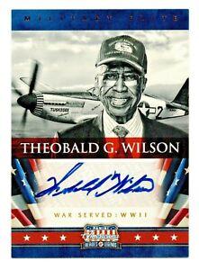 2012 Americana Military Elite Theobald G. Wilson Tuskegee Autograph 11/99 RIP