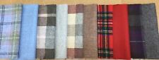 100 Pure Wool Check/plaid 10 Large Fabric Pieces Remnant Patchwork 25x25 Cm