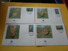 Tanzania 1989 Wwf Ape Sansibargalago 4 FDC First Day Covers