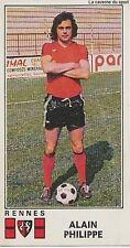 N°287 ALAIN PHILIPPE # STADE RENNAIS STICKER PANINI FOOTBALL 1977